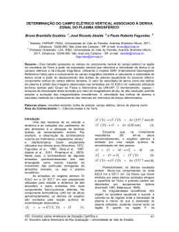 Determinação do campo elétrico vertical associado à - INIC