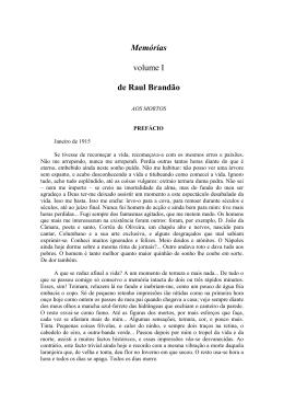 Memórias volume I de Raul Brandão