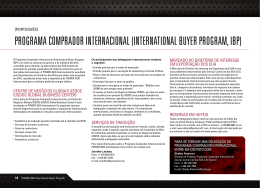 programa comprador internacional (international buyer program, ibp)