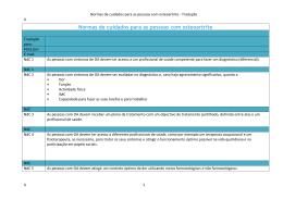 Normas de cuidados para as pessoas com osteoartrite