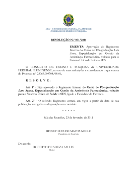 71 - Conselhos Superiores da Universidade Federal Fluminense