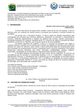 Indicação CEE/MS nº 79/2014