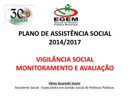 PLANO DE ASSISTÊNCIA SOCIAL 2014/2017 VIGILÂNCIA