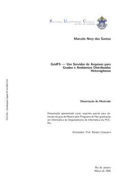 Marcelo Nery dos Santos GridFS — Um Servidor de
