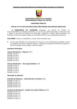 MP-PB - Resul. preliminar p. objetiva