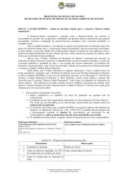 edital - Prefeitura de Maceió