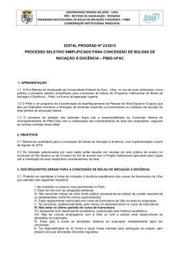 Edital PIBID 2015