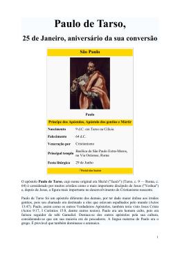Paulo de Tarso - 25 de Janeiro