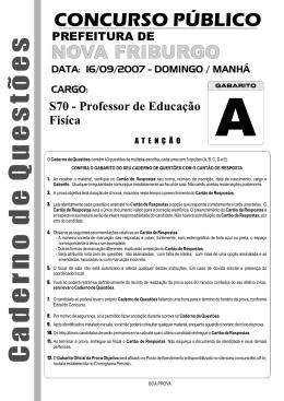 Prova - APEF-RJ