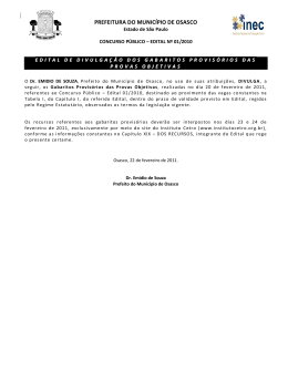 PREFEITURA DO MUNICÍPIO DE OSASCO