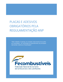 Check-list de Placas e Adesivos ANP