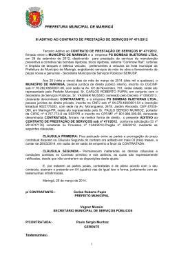 III Aditivo Contrato 471/2012
