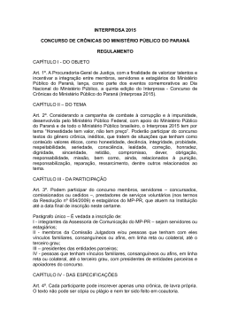 Regulamento do Interprosa 2015