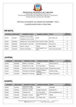 Classificados - Prefeitura Municipal de Corumbá