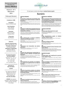 Índice Volume 8 nº 3 - Maio/Junho de 2010
