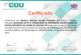 Certificamos que Matheus Henrique Sanches Gonçalves