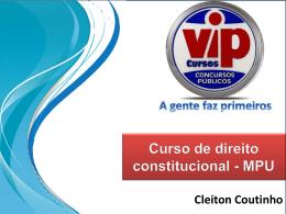 PODER CONSTITUINTE - Vipcursosonline.com.br