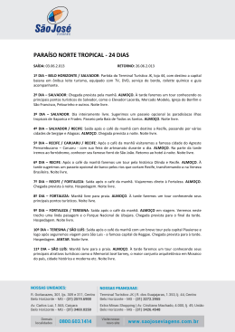 PARAÍSO NORTE TROPICAL - 24 DIAS