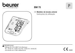 P Medidor de tensão arterial Instruções de utilização