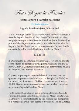 Festa Sagrada Família