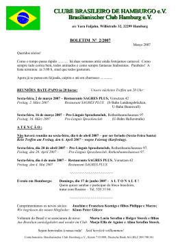Boletim Informativo N° 2 /2007