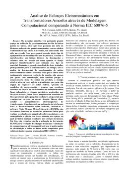 Analise de Esforços Eletromecânicos em Transformadores Amorfos