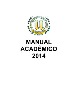 MANUAL ACADÊMICO 2014
