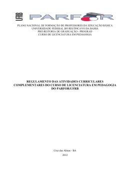 regulamento das atividades curriculares complementares