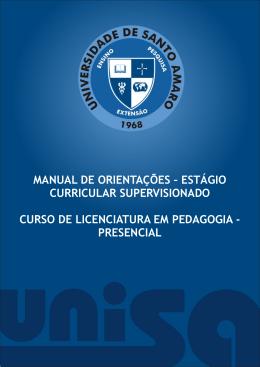 manual de orientações – estágio curricular supervisionado curso de