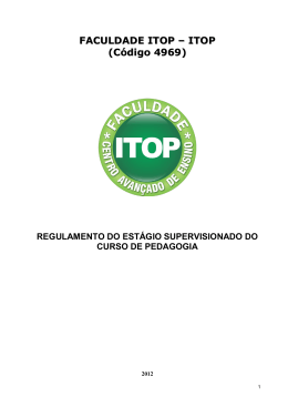 regulamento do estágio supervisionado do curso de pedagogia