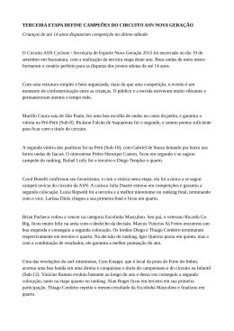 TERCEIRA ETAPA DEFINE CAMPEÕES DO CIRCUITO ASN NOVA