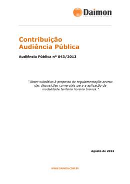 Contribuição Audiência Pública