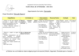 Departamento Curricular: Expressões Grupo Disciplinar: Educação
