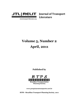 B T P S - Journal of Transport Literature