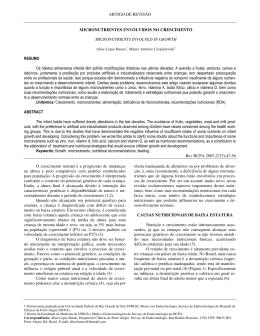 ARTIGO DE REVISÃO MICRONUTRIENTES