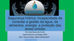 Segurança hídrica: incapacidade de conectar a gestão da