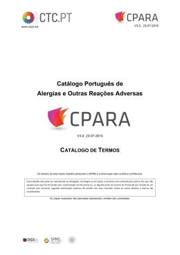 Catálogo Português de Alergias e Outras Reações Adversas