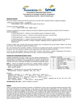 FACULDADE DE TECNOLOGIA SENAC PELOTAS Curso Superior