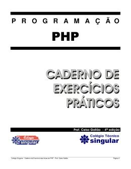 PHP CADERNO DE EXERCÍCIOS PRÁTICOS
