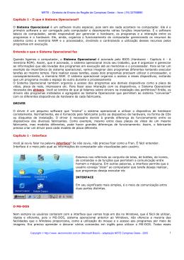Capítulo 1 - O que é Sistema Operacional
