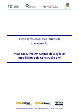 MBA Executivo em Gestão de Negócios Imobiliários e da