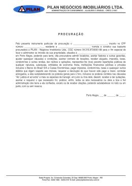 MODELO PROCURAÇÃO ALUGUEL