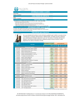 Lista de preços de varejos - Retails price list