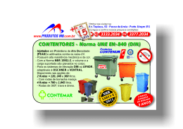 Folder Contentores - Produtos & Equipamentos MB