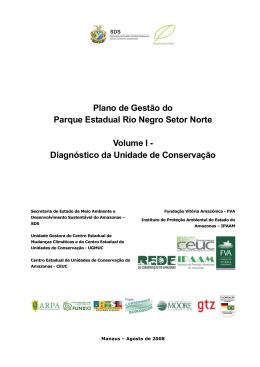Plano de Gestão do Parque Estadual Rio Negro Setor Norte Volume I