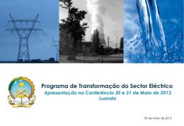 Programa de Transformação do Sector Eléctrico em Angola