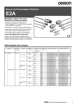 Datasheet Sensor Indutivo E2A