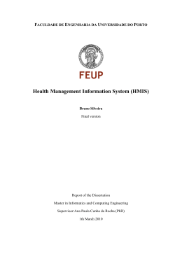 Health Management Information System (HMIS)