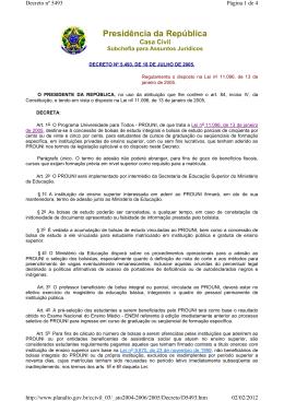 4 Decreto n. 5.493-2005
