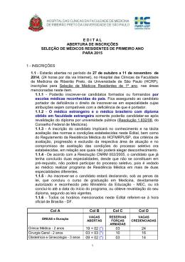 E D I T A L - Sociedade Brasileira de Radioterapia